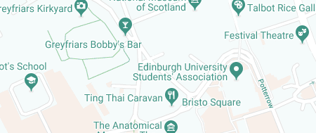 Map of Edinburgh Old Town STD Clinic