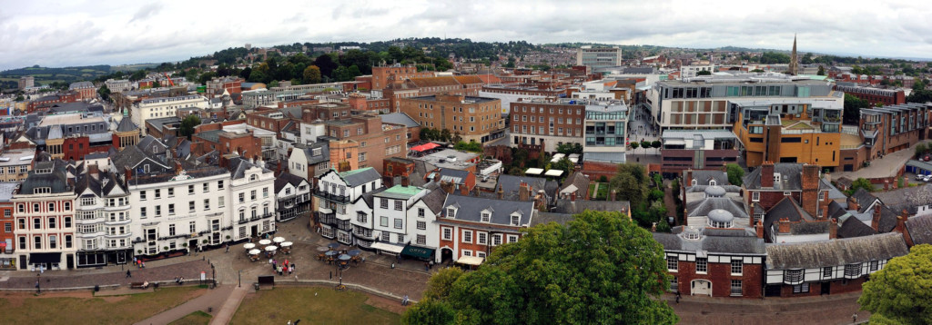 Exeter aerial photo