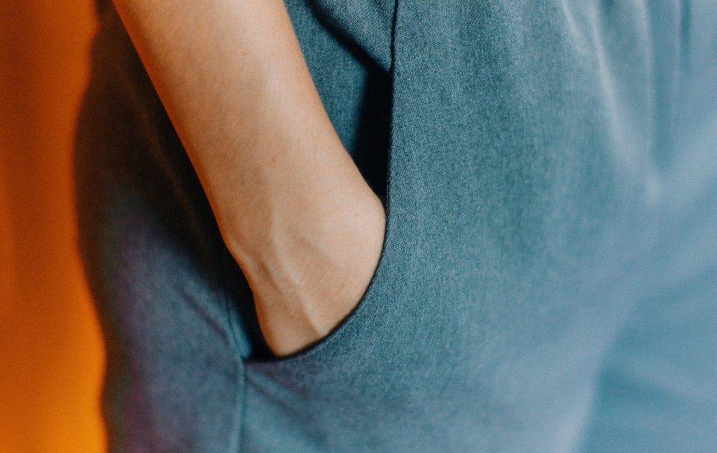 man hands in pocket